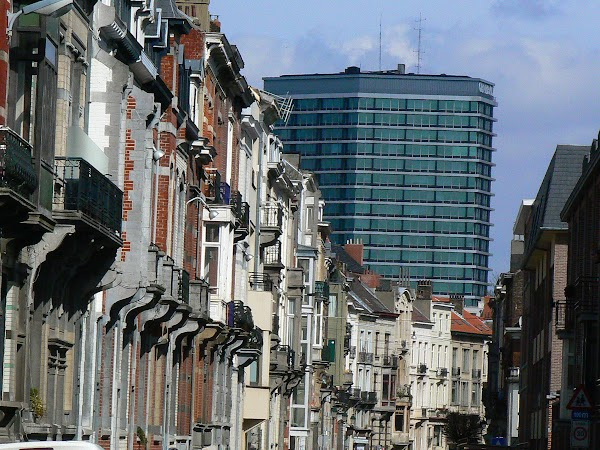 Obiective turistice Belgia: strazi din Bruxelles.JPG