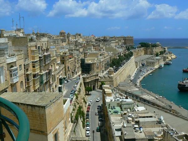 Obiective turistice Malta: imagine din Baraka Gardens, Valletta