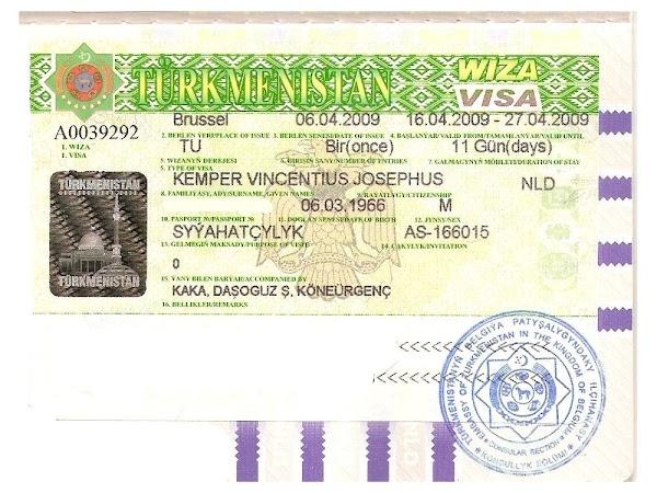 28. Viza Turkmenistan Drumul spre China