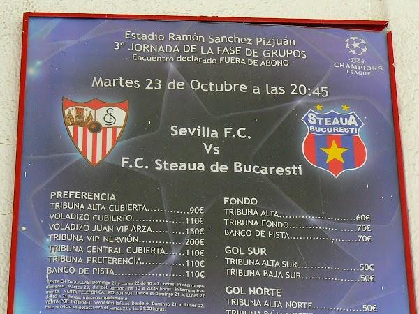 Imagini Spania: meciul Steaua - FC Sevilla