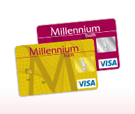 Card de credit de la Millenium Bank