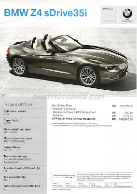 BMW Z4 Leaflet