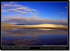 White Sands Monsoon Reflection II