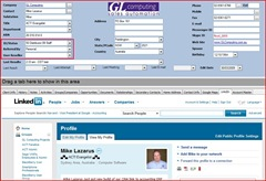 LinkedIN Tab in ACT! by Sage 2009