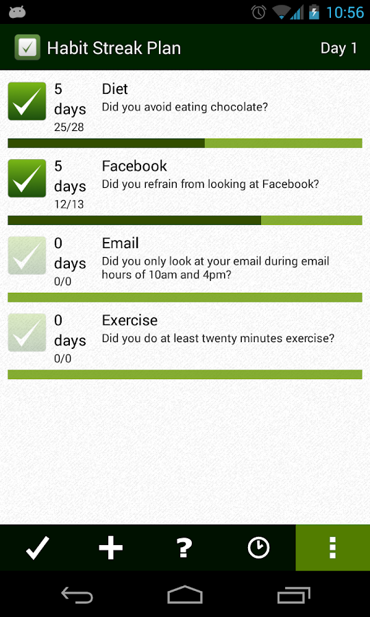 Habit Streak Plan - screenshot
