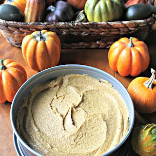 No Bake Pumpkin Pie w/ Gingerbread Hazelnut Crust