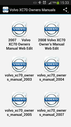 Volvo XC70 Owners Manuals
