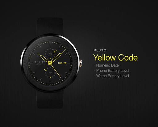 Yellow Code watchface by Pluto