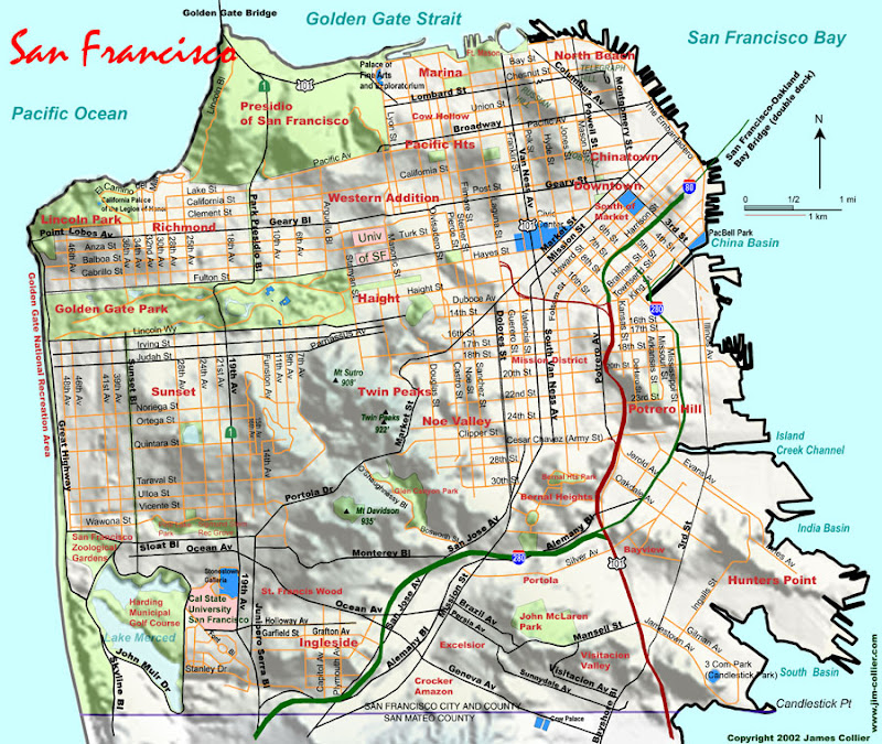SAN FRANCISCO: Topographical maps