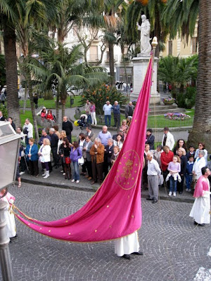 Procession in Sorrento for a festival in Italy