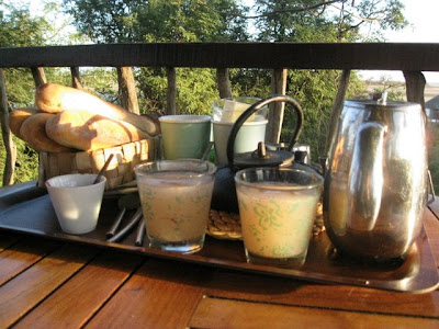 Breakfast at Les Collines de Niassam resort in Senegal