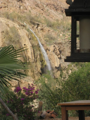 Waterfall by the Evason Ma'in resort in Jordan