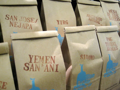 Bags of Blue Bottle Coffee in San Francisco California