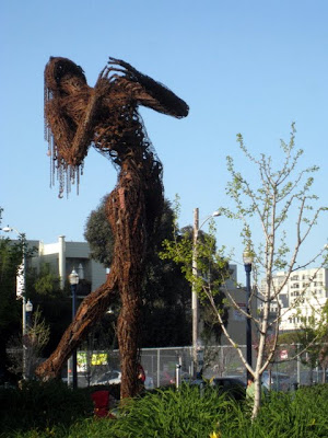 Sculpture in Hayes Valley in San Francisco California