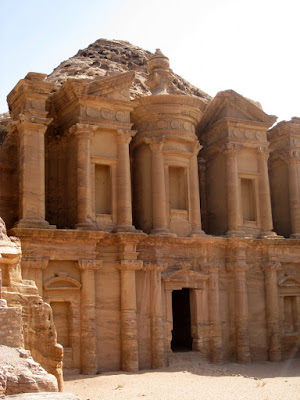 The facade of the Monastery in Petra