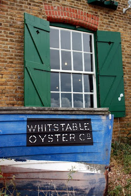 Whitstable Oyster Co boat in Kent England