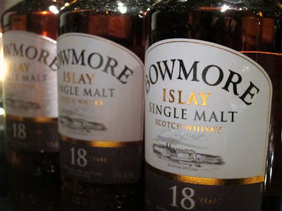 Bowmore Whisky bottles at a tasting in London
