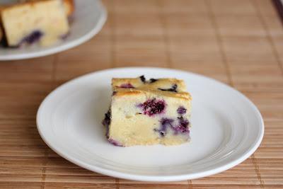 photo of one slice of Blueberry Mochi Cake