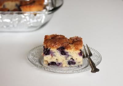 blueberry cake on a plate