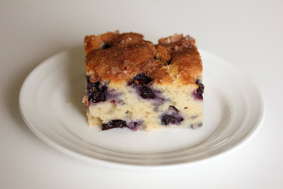 photo of a slice of blueberry cake