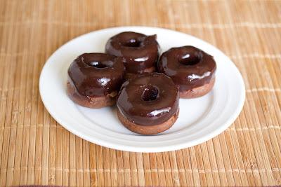 Mini chocolate cake donuts