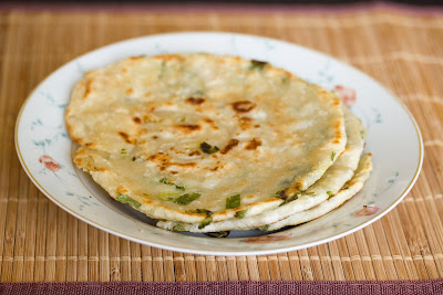 photo of scallion pancakes on a plate