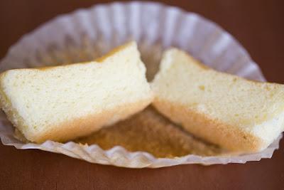 photo of mini sponge cake split in half