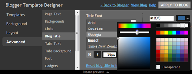 The new Blogger template designer