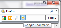 Google Bookmarks search in IE 8