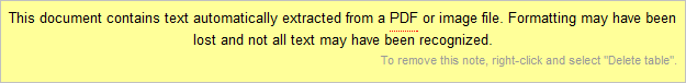 Google Docs OCR warning