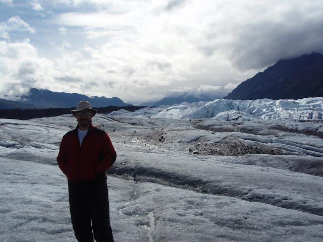 Eu no Matanuska Glaciar