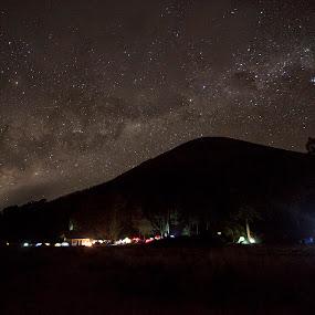 Star by Havidz Zhurrahman - Landscapes Starscapes ( mountain, semeru mountain, stars, milky way )