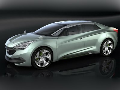 On a motor show in Geneva debuted concept car Hyundai