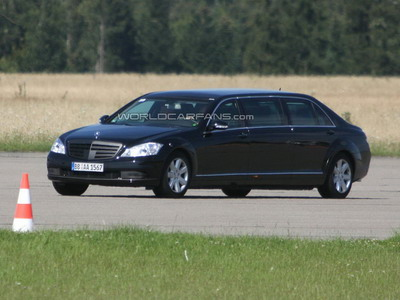 There were updated photos of limousine Mercedes-Benz