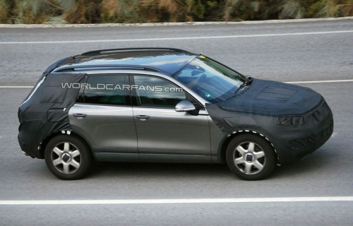 Espionage photos new Volkswagen Touareg