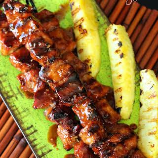 Savory Sweet Asian Glazed Pork Kabobs.