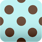 aqua blue polka dots Wallpaper