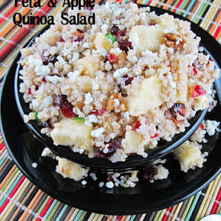 Apple, Cranberry and Feta Quinoa Salad.