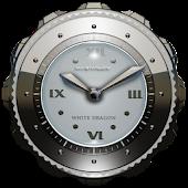 Dragon Clock Widget white