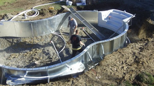 In Ground Pool Installation Pictures Rowley Massachusetts