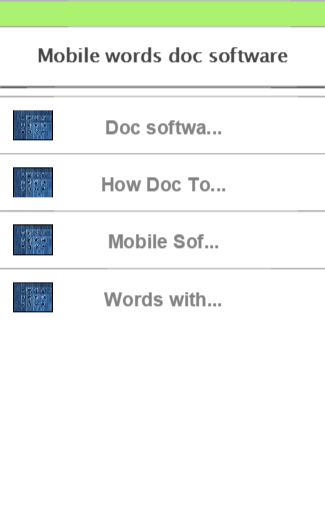Mobile words doc software