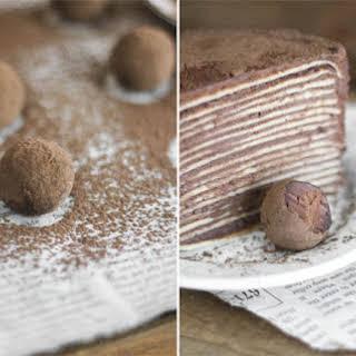 Chocolate Amaretto Crêpe Cake.