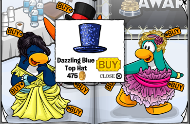 Dazzling Blue Top Hat :)