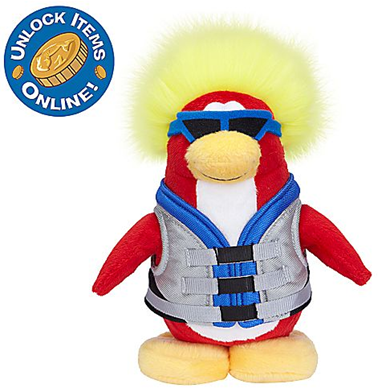Water Sport Penguin Plush Toy