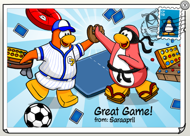 Great Game Postcard
