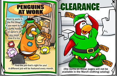Puffle Feeder Penguins at Work :)