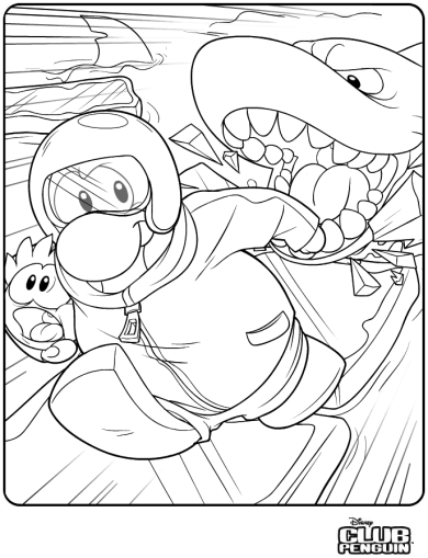 Puffle Rescue Coloring Page :)