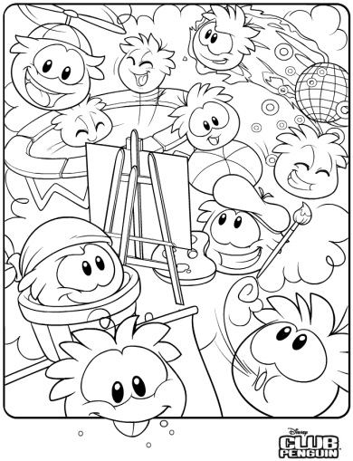 Puffle coloring page