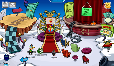 A Silly Place in Club Penguin :)