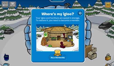 Littletias Igloo in Storage :)